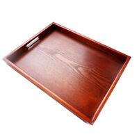 Natural Fruit Serving Tray Tea Food Server Dish Platter Brown Wooden Plate