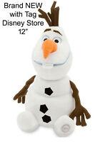 "Disney Store Frozen Olaf Snowman Plush small 12"" Figure Doll Stuffed Toy NEW"