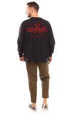 RRP€650 BEN TAVERNITI UNRAVEL PROJECT Sweatshirt Size S Embroidered Garment Dye