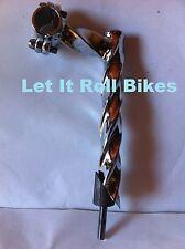 BICYCLE TWISTED STEM 22.2MM LOWRIDER BEACH CRUISER CHOPPER CYCLING NEW!