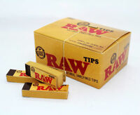 Genuine RAW Rolling Paper Roach Filter Tips Original / Roach Book Chlorine Free