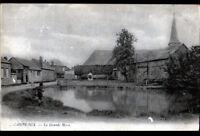 CAMPEAUX (60) COMMERCES & PECHEUR à la ligne à la GRANDE MARE en 1918