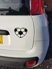 Heart Football Vinyl Wall Car Sticker Decal Black
