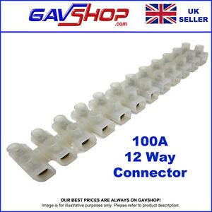 1 X 100 Amp 12 Way Choc Connector Block Terminal Strip Wire Connector
