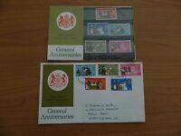 1970 GENERAL ANNIVERSARIES  PRESENTATION PACK  +  F D C  IN VERY GOOD  CONDITION