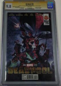 Deadpool #42 La Mole Signed by Stan Lee / Tim Miller / Ryan Reynolds CGC 9.8 SS