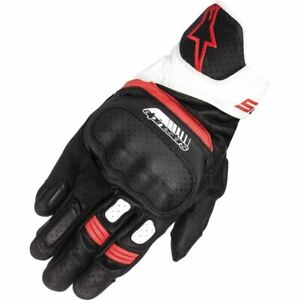 Alpinestars SP-5 Leather Motorcycle Glove - Black/White/Red, All Sizes