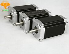 3PCS Nema 34 Stepper Motor 1232 oz.in bipolar 4wires 34HS1456 86BYGH CNC Table