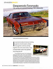 1966 OLDSMOBILE TORONADO UNRESTORED ~ NICE 4-PAGE ARTICLE / AD