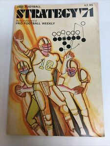 Pro Football Weekly's Strategy '71 AUTOGRAPHED BY NICK BUONICONTI JSA CERTIFIED