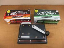 Hand Crank Cigarette Maker Injector Rolling Machine w/ Menthol & Regular Tubes