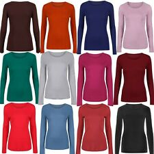 Marks & Spencer Womens Pure Cotton Long Sleeve Top New M&S Crew Neck T-Shirt Tee