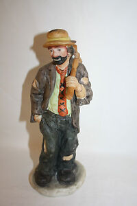 """EMMETT KELLY FLAMBRO CLOWN FIGURINE """"HOBO"""" EXCLUSIVELY FROM FLAMBRO"""
