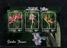 St Vincent & The Grenadines 2014 MNH Garden Flowers II 3v MS Lily Iris Germanica