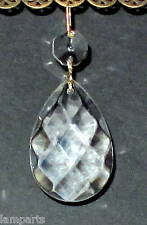"60 1.5"" Almond Crystal Pendants Criss Cross Style with Octagon Bead Btass Pins"