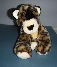 "Animal Alley Toys RUs 13"" Long 9""  Stuffed Plush Cub Leopard Brown Black  3 +"