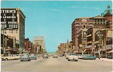 View on Kansas Avenue in Topeka KS Postcard