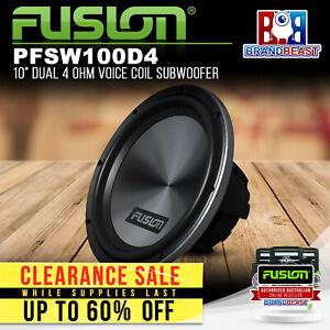 """Fusion PF-SW100D4 10"""" Dual 4 Ohm Voice Coil Subwoofer"""