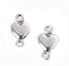 Wholesale lot 200pcs DIY Silve Plated Heart Jewelry Connectors finding 10x5mm