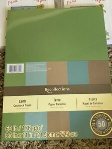 "Recollections Earth Cardstock Pack 8.5"" x 11"" 50 pk New"