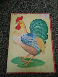 Vintage Milton Bradley Puzzle Rooster Vintage Child's Puzzle 1955