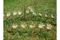 FAIRY METAL FLOWERED FENCING  & GATE SECRET GARDEN FANTASY MYTHICAL MAGICAL