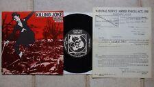 """KILLING JOKE – Wardance / Pssyche  Malicious Damage MD5.40  7"""" + Call Up Paper"""