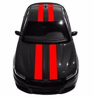 """9"""" Double Center Racing Stripes Vinyl Decal Car Graphic (Fits Dodge CHARGER)"""