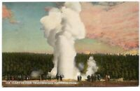 Giant Geyser Yellowstone National Park Wy Antique Postcard Wyoming divided back