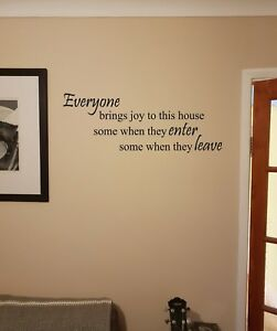Everyone Brings Joy Room Wall Quote Vinyl Lettering Art Sticker Decal