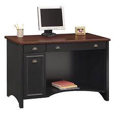 Bush Furniture WC53918-03 Stanford Computer Desk Antique Black/Hansen Cherry