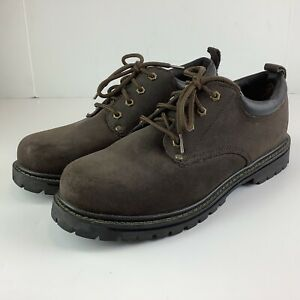 Skechers Mens Size 12 Brown Suede Oxford SN7111 Heavy Duty Work Shoes