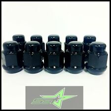 10 BLACK LUG NUTS 14X1.5 | DODGE MAGNUM CHARGER | CHEVY CAMARO 08+ CTS WHEEL NUT
