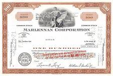 Marlennan Corporation Stock Certificate Delaware 1970 (67889)