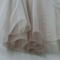 Mink Grey Brown Taupe Soft Tulle Veiling Draping Fabric 150cm wide - by the m
