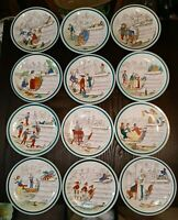 Creil Montereau Complete Set of 12 Sujets Musicaux 8.5 Lunch Plates French Opera