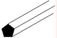 Plastruct MRP-50 (90834) Pack 10 X 1.3mm X 250mm longitudes de plástico barra del Pentágono