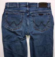 Mens WRANGLER Jeans W34 L32 Blue Regular Straight Fit