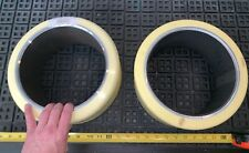 2 Qty! *Bulk* Superior Tire Cushothane 10.5X5x8 Yellow Press-On Forklift Tire