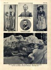 Alpin-Museum München Leiter Müller Grödner Tracht Lt. Naus London Neujahr v.1910