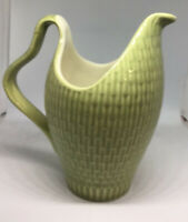 RED WING 1950's MID CENTURY CAPISTRANO CREAMER ~ PITCHER  BASKETWEAVE MINT~USA