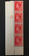 Gb Edward Viii 1936 1d Cylinder 13 No Dot Mint Mm Control Block Keviii Red