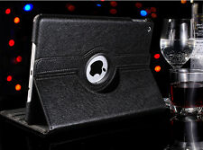 Black 360 Rotating Leather Smart Case Cover Magnetic Stand For Apple iPad 2 3 4