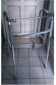 MEDICAL GRADE STABILIZED FOLDABLE WALKER, STAINLESS STEEL