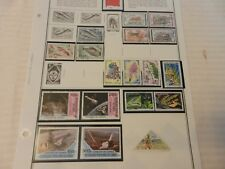 Lot of 18 1970 Congo Peoples Republic Stamps, Shuttle, Fish, Lions, Flowers