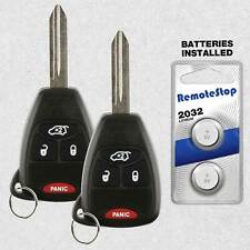 2x Keyless Entry Remote Car Key Fob for Jeep 06-07 Commander Cherokee KOBDT04A