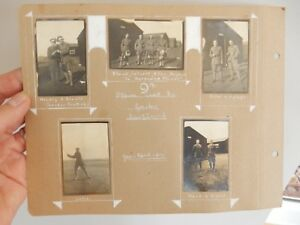 GAILES TROON AYRSHIRE WW1 superb annotated album page with photographs 1917