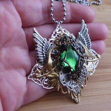Amulett fairy steampunk gothic walküre valkyrie Pendant vintage anhänger kette