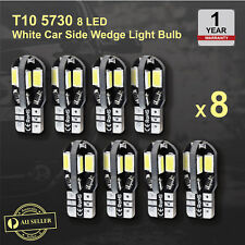 8 x Canbus T10 5730 8 LED SMD White Car Side Wedge Light Lamp Bulb -194 168 W5W