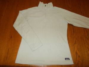 PATAGONIA 1/4 ZIP LONG SLEEVE GRAY FLEECE TOP WOMENS MEDIUM EXCELLENT CONDITION